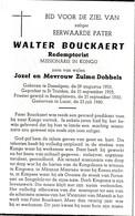 Desselgem, Luozi, 1960, Walter Bouckaert, Missionaris In Kongo, Redemptorist, Dobbels - Images Religieuses