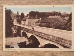 CPA Dpt 10 Couleur - Lesmont ( Aube ) - Le Pont - 1938  (livraison Gratuit France) - Autres Communes