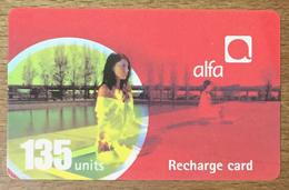 LIBAN ALFA RECHARGE GSM 135U EXP 18/08/2006 PHONECARD PAS TELECARTE CARTE TÉLÉPHONIQUE PRÉPAYÉE - Libano