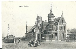 Halle   Cpa Pk  Gare Station - Halle