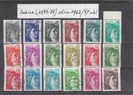 France Sabine De Gandon (1977-78) Y/T Série 1962/1979 Oblitérés - 1977-81 Sabine De Gandon
