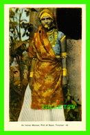 TRINIDAD & TOBAGO - AN INDIAN WOMAN IN PORT OF SPAIN -  DOMINION CREST - PECO - - Trinidad