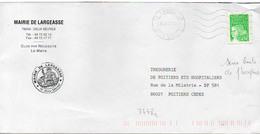France N° 3448a (sans Bande Phosphore) Y. Et T. Deux Sèvres Largeasse Flamme Muette Du 26/06/2002 - Marcophilie (Lettres)