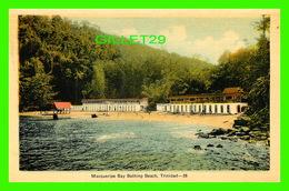 TRINIDAD & TOBAGO - MACQUERIPE BAY BATHING BEACH - ANIMATED -  DOMINION CREST - PECO - - Trinidad