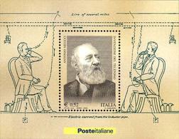 93928) ITALIA-Invenzione Del Telefono Ad Opera Di Antonio Meucci - BLOCCO FOGLIETTO - 28 Maggio 2003-MNH** - Blocks & Sheetlets
