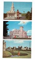 3 Different KENSINGTON, Prince Edward Island, Canada, Woodleigh Replicas, Old Chrome Postcards - Ile Du Prince-Édouard
