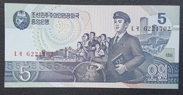 EM0407 - North Korea 5 Won Banknote 1998 #LF 6221702 P.40 UNC - Corée Du Nord