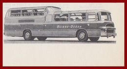 Autobus De Tourisme Suisse-Océan. Bus Panoramique. Larousse 1960. - Documenti Storici