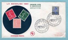 FDC France 1961 - Semeuse De Piel - YT 1234A - Paris - 1960-1969