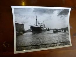 """Paquebot """"Bilma"""" Dunkerque, Chargeurs Réunis, Photo Originale Vers 1948 13x18, Ref 1516 ; FOTO 01 - Bateaux"""