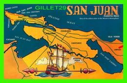 MAP, CARTE GÉOGRAPHIQUE - SAN JUAN BAUTISTA, PUERTO RICO - THE DUKANE PRESS INC - - Cartes Géographiques
