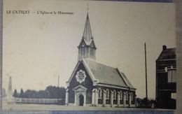 02 Aisne CPA  Le Catelet L'église Et Le Monument - Autres Communes