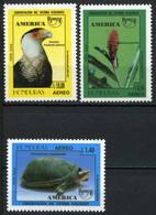 Honduras 1995 MiNr. 1294 - 1296  Amerika Upaep  Birds Plants Turtles  3v MNH** 6,00 € - Schildkröten