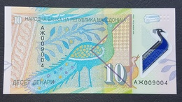 EM0407 - Macedonia 10 Denari Polymer Banknote 2018 #AX009004 UNC - Macedonia