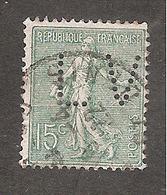 Perforé/perfin/lochung France No 130 LV (145) - Perforés
