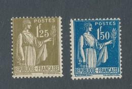 FRANCE - N°YT 287/88 NEUFS* AVEC CHARNIERE - 1932-39 Paix