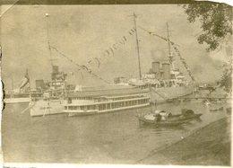 Photo D'un Gros Navire De Guerre Dans Un Port En Asie En 39-45 - Bateaux