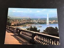 4504 - GENEVE La Rade Et La Ville Depuis Cologny - 1987 Timbrée - GE Genève