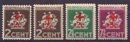 Suriname NVPH Nr 202/205 Postfris/MNH Rode Kruis, Red Cross, Croix Rouge, Rotes Kreuz 1942 - Surinam ... - 1975