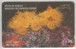KUWAIT 1997 FLOWER ANEMONE ACTINIARIA - Flores