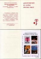 Yugoslavia 1987 Red Cross, Cancer, Imperforated Booklet MNH - Portomarken