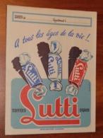 PROTÈGE CAHIER - Bonbons Toffées LUTTI - Edition Carte De France - Années 50 -18x24- Bon état D'usage : Voir Photos - 19 - Protège-cahiers
