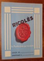 PROTÈGE CAHIER - Menthe RICQLES - Années 50 - 18x24 - Très Bon état : Voir Photos - 21 - Protège-cahiers