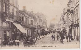 CPA Bergerac - Rue Du Marché (avec Très Belle Animation) - Bergerac