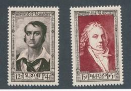 FRANCE - N° 894/95 NEUFS** SANS CHARNIERE - 1951 SURCOUF + TALLEYRAND - France