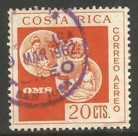 COSTA RICA. 1961. 20c AIR MAIL USED - Costa Rica