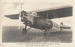 Le Moteur Jupiter-Gnome Et Rhone Monté Sur Un Des Avions Type F-VIIa De La KLM - 1919-1938: Entre Guerres