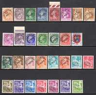 1922/60 France Préoblitérés N°39,43,51/3,70/2,78,81,87/90,94/6,99,101,103A,105/12,119,120   2,50 €  (cote 27 €  30 Val.) - Préoblitérés