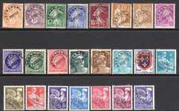 1922/60 France Préoblitérés N°39,43,51/3,71/2,78,87,89/90,94/5,99,101,105/12,119   1,50 €  (cote 18,85 €  23 Valeurs) - Préoblitérés