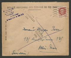 """ESSONNE / Cachet """" Retour à L'envoyeur 194 """" De ATHIS MONS - 1921-1960: Modern Period"""