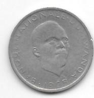 *rwanda 1 Franc 1965  Km 5  Vf - Rwanda