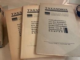 Taxandria - Antwerpse Kempen Heemkunde - Jaargang 1934 Voll - 3 Nr's - Books, Magazines, Comics