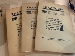 Taxandria - Antwerpse Kempen Heemkunde - Jaargang 1933 Voll - 3 Nr's - Books, Magazines, Comics