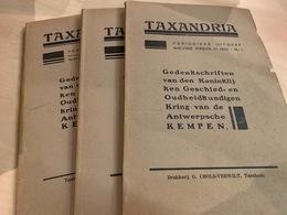 Taxandria - Antwerpse Kempen Heemkunde - Jaargang 1932 Voll - 3 Nr's - Books, Magazines, Comics