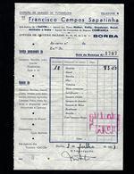 Papel Timbrado / Documento Loja Em BORBA Rua Dr.Oliveira Salazar (Evora / Alentejo) PORTUGAL - Portugal