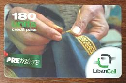 LIBAN LIBANCELL COUTURE RECHARGE GSM 180U EXP 02/04/2005 PHONECARD PAS TELECARTE CARTE TÉLÉPHONIQUE PRÉPAYÉE - Libano