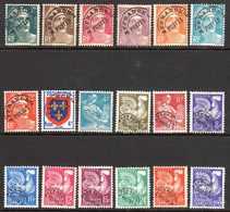 1945/60 France Préoblitérés Sans Gomme N°94/17,99,101,103A,105/13,115,119        2 €  (cote 21;55 €  18 Valeurs) - Préoblitérés