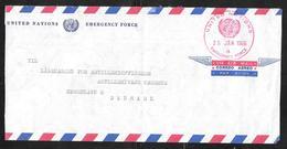 United Nations / Denmark - 1966 Cover UN Emergency Force In Gaza To Copenhagen - Sonstige