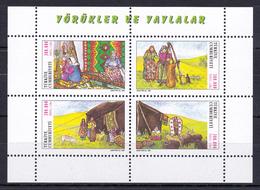 Turkey - 2000 - ( Nomadic Life ) - S/S - Complete Set Of 4 - MNH (**) - 1921-... República
