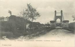 """CPA FRANCE 24 """"Grolejac, Le Château, Le Pont Suspendu"""" - Andere Gemeenten"""