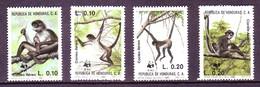 Honduras 1990 MiNr. 1084 - 1087 WWF Mammals Geoffroy's Spider Monkeys 4v  MNH** 10,50 € - Scimmie
