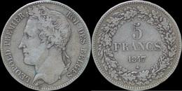 Belgium Leopold I 5 Frank 1847 - 1831-1865: Leopold I