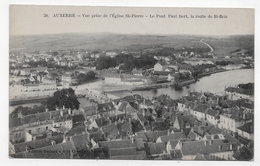 AUXERRE - N° 38 - VUE PRISE DE L' EGLISE SAINT PIERRE - LE PONT PAUL BERT - LA ROUTE DE SAINT BRIS - CPA VOYAGEE - Auxerre