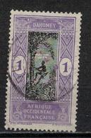 DAHOMEY      N°  YVERT   :  43  ( 4 )   OBLITERE       ( OB   6 / 31 ) - Dahomey (1899-1944)