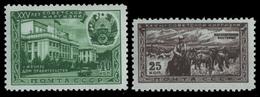 Russia / Sowjetunion 1951 - Mi-Nr. 1546-1547 ** - MNH - Kirgisische SSR (II) - 1923-1991 URSS