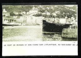 """BERGEN NORGE - Steam Ship """"HARDANGERFJORD"""" - Coupure De Presse (encadré Photo) De 1940 - Boats"""